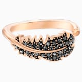 Naughty Motif Ring, Black, Rose-gold tone plated - Swarovski, 5509674
