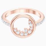 North Motif Ring, White, Rose-gold tone plated - Swarovski, 5509677