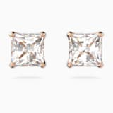 Attract Ohrringe, weiss, Rosé vergoldet - Swarovski, 5509935