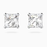Kolczyki sztyftowe Attract, białe, powlekane rodem - Swarovski, 5509936