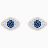 Swarovski Symbolic 耳釘, 藍色, 鍍玫瑰金色調 - Swarovski, 5510067