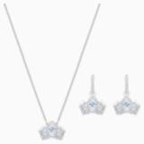 Bee A Queen Set, Blue, Rhodium plated - Swarovski, 5510988