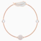 Swarovski Remix Collection Feather Strand, 白色, 镀玫瑰金色调 - Swarovski, 5511003