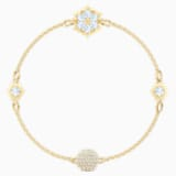 Swarovski Remix Collection Snowflake Strand, 白色, 镀金色调 - Swarovski, 5511095