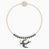 Swarovski Remix Collection Swallow Strand, Multi-colored, Gold-tone plated - Swarovski, 5511097