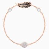 Swarovski Remix Collection Feather Strand, Черный Кристалл, Покрытие оттенка розового золота - Swarovski, 5511101