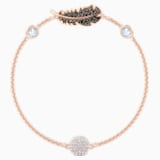 Swarovski Remix Collection Feather Strand, 黑色, 镀玫瑰金色调 - Swarovski, 5511101