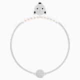 Polar Bestiary Bracelet, White, Rhodium plated - Swarovski, 5511102