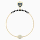 Swarovski Remix Collection Spade Strand, Multi-coloured, Gold-tone plated - Swarovski, 5511104