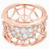 Precisely 圖形戒指, 白色, 鍍玫瑰金色調 - Swarovski, 5511396