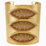 Evil Eye Statement Cuff, Brown, Gold-tone plated - Swarovski, 5511789