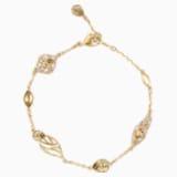 Ozdobna bransoletka Graceful Bloom, brązowa, w odcieniu złota - Swarovski, 5511814