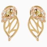 Boucles d'oreilles clous Graceful Bloom, marron, Métal doré - Swarovski, 5511815
