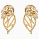 Graceful Bloom Stud Earrings, Brown, Gold-tone plated - Swarovski, 5511815