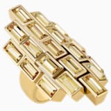 Fluid Cocktail Ring, Brown, Gold-tone plated - Swarovski, 5511885