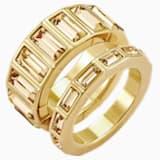 Fluid kombinálható gyűrű, barna, arany árnyalatú bevonattal - Swarovski, 5511886