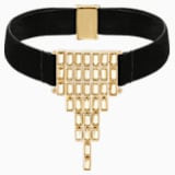 Fluid Velvet Choker, Brown, Gold-tone plated - Swarovski, 5511889