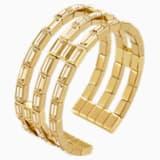 Fluid Cuff, Brown, Gold-tone plated - Swarovski, 5511890