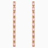 Fluid Detachable Earrings, Violet, Rose-gold tone plated - Swarovski, 5512007