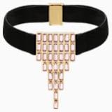 Fluid Velvet Choker, Violet, Rose-gold tone plated - Swarovski, 5512016
