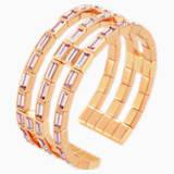 Fluid Cuff, Violet, Rose-gold tone plated - Swarovski, 5512019
