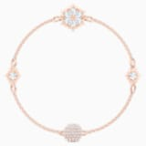 Swarovski Remix Collection Snowflake Strand, weiss, Rosé vergoldet - Swarovski, 5512038