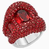 Tigris Cocktail Ring, Red, Palladium plated - Swarovski, 5512345