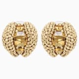 Tigris Stud Clip Earrings, Gold tone, Gold-tone plated - Swarovski, 5512346