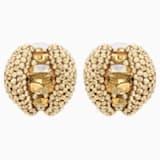 Clous d'oreilles clip Tigris, ton doré, métal doré - Swarovski, 5512346