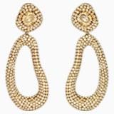 Boucles d'oreilles clip drop Tigris, ton doré, métal doré - Swarovski, 5512348