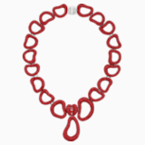 Tigris Statement Necklace, Red, Palladium plated - Swarovski, 5512353