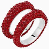 Tigris gyűrűszett, vörös színű, palládium bevonattal - Swarovski, 5512358