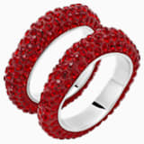Tigris Stacking Ring, Red, Palladium plated - Swarovski, 5512358