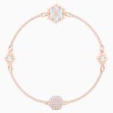 Swarovski Remix Collection Snowflake Strand, Белый Кристалл, Покрытие оттенка розового золота - Swarovski, 5512378