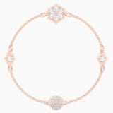 Swarovski Remix Collection Snowflake Strand, 白色, 鍍玫瑰金色調 - Swarovski, 5512378
