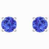 Attract bedugós fülbevaló, kék színű, ródium bevonattal - Swarovski, 5512385