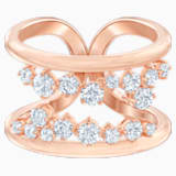 North Motif Ring, White, Rose-gold tone plated - Swarovski, 5512433