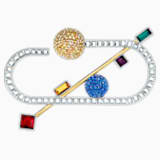 Spectacular Brooch, Dark multi-colored, Mixed metal finish - Swarovski, 5512465