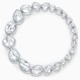 Spectrum Shine 项链, 白色, 镀铑 - Swarovski, 5512467