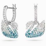 Τρυπητά σκουλαρίκια Κύκνος Swarovski Iconic Swan, πολύχρωμα, επιροδιωμένα - Swarovski, 5512577