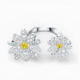Otevřený prsten Eternal Flower, žlutý, smíšená kovová úprava - Swarovski, 5512656