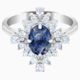 Palace 圖形戒指, 藍色, 鍍白金色 - Swarovski, 5513211