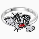 Looney Tunes Sylvester Motif Ring, Multi-colored, Rhodium plated - Swarovski, 5513232
