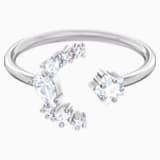 Penélope Cruz Moonsun Open Ring, White, Rhodium plated - Swarovski, 5513974