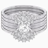 Penélope Cruz Moonsun Ring Set, White, Rhodium plated - Swarovski, 5513981