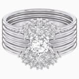 Penélope Cruz Moonsun Ring Set, White, Rhodium plated - Swarovski, 5513981