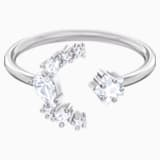 Penélope Cruz Moonsun Offener Ring, weiss, Rhodiniert - Swarovski, 5513982