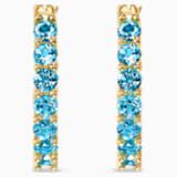 Pendientes de aro Vittore, turquesa, baño tono oro - Swarovski, 5514357