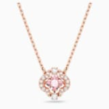 Collar Swarovski Sparkling Dance, rosa, baño tono oro rosa - Swarovski, 5514488