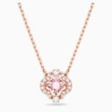 Swarovski Sparkling Dance Necklace, Pink, Rose-gold tone plated - Swarovski, 5514488
